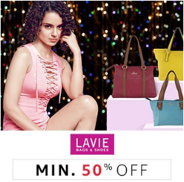 Lavie Handbags & Shoes min 50% off from Rs. 342