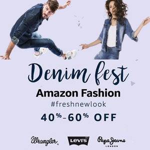 40% - 60% off on Top Brand Denims at Amazon