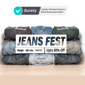 Men's Jeans upto 80% off from Rs. 299 at ShopClues