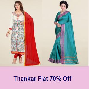 Thankar Women's Ethnic Wear min 70% Off at TataCLiQ