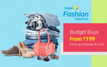 Fashion budget buys from Rs.199 @flipkart