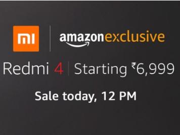 Redmi 4 Sale 21st Nov'17@12 pm on amazon