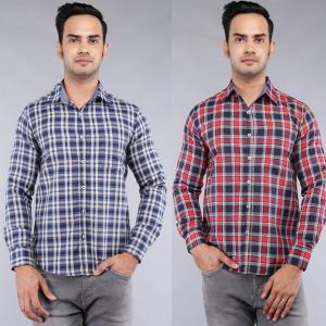 Men's Checks Casual Shirts at 50% off Rs.200 @myvishal