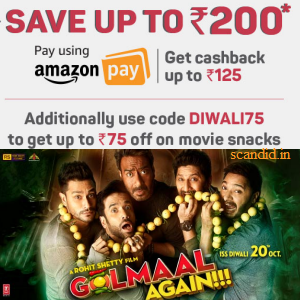 Upto 200 off on Movie Tickets @Bookmyshow
