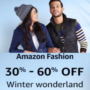 Upto 70% off on Winter wear on Amazon