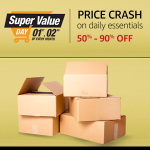 Price Crash on Daily Essentials @Amazon