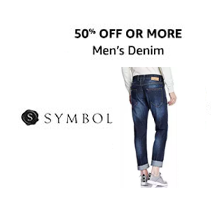 Symbol Men's Jeans 50% off + 75 Cashback with Amazon Pay on Rs.250