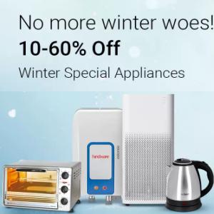 Winter Appliances upto 60% off on Flipkart
