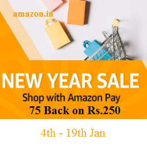 75 Back On Orders Above Rs.250 with Amazonpay