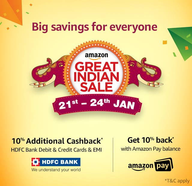 Great Indian Sale : 20th -24th Jan @Amazon