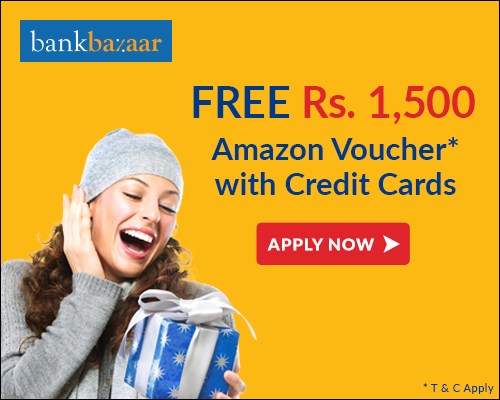 Get an Amazon gift card worth Rs.1500 on Credit Cards*.