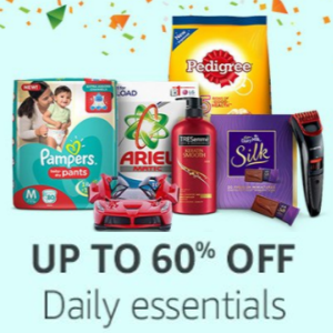 Daily Essentials upto 60% off + 10% back