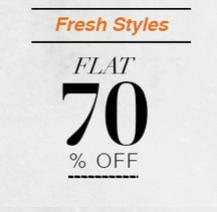 Flat 70% off on fashion + Free Shipping @myntra