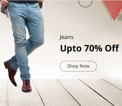 Mens Jeans upto 70% off on Shopclues