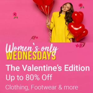 Women's Wednesday : Upto 80% Off @Flipkart
