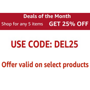 25% off on 5 pantry products Select locations on select products + Other offers