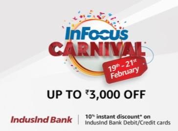 Infocus Phones Upto 3000 Off + 10% Off on IndusInd Debit/ Credit Cards @Amazon