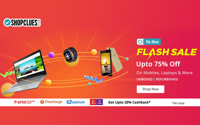 Renew  Flash Sale: Upto 75% Off On Mobiles, Laptops & More