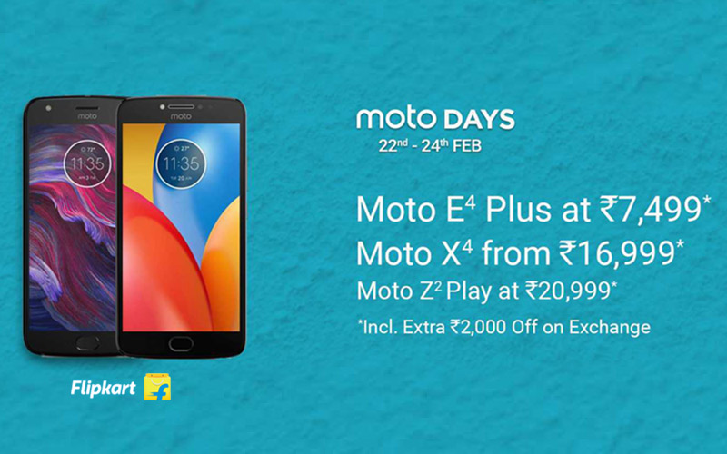 Moto Days: Upto 20% Off + Extra Rs.2000 Off On Exchange.