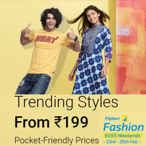 Fashion Budget Buys from Rs.199 on Flipkart
