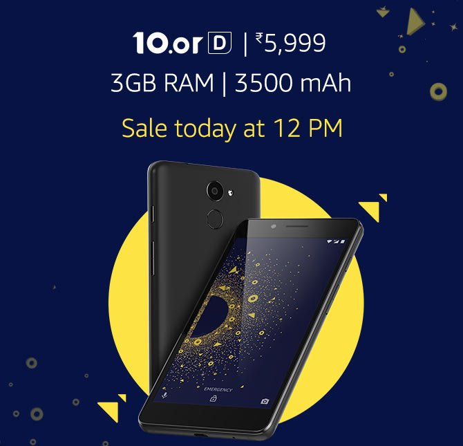 10.or D from 4999 -Amazon (Sale 23rd Feb, 12pm)