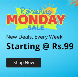 Refreshing Monday Sale from Rs.89 @Shopclues