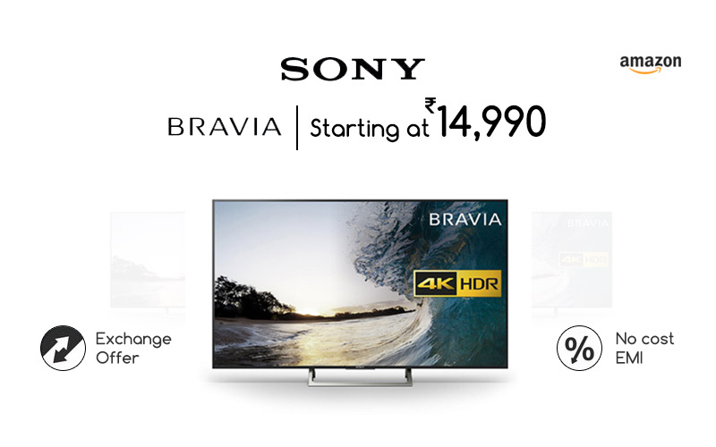 Sony Bravia TVs  Starting From Rs.14990