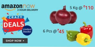 Crazy Deals @Amazon Now ( Bangalore, Delhi NCR,Mumbai & Hyderabad )