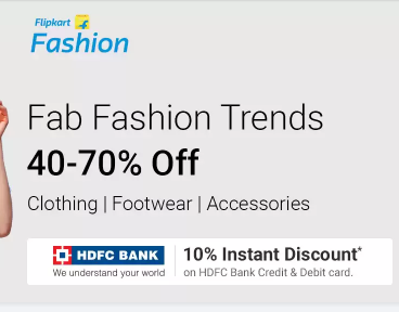 Flipkart Fashion Weekend 30% - 70% off on clothing & footwear