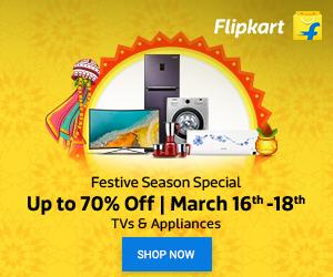 Festive Season Special: Upto 70% Off On TVs & Appliances