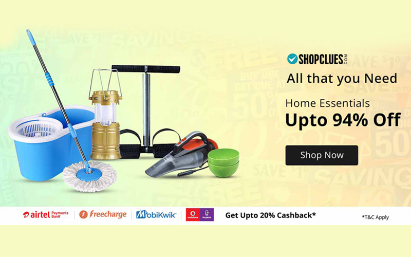 Home Essentials: Upto 94% Off