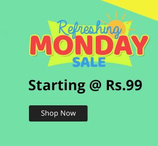 Refreshing Monday Sale from Rs.75