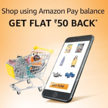 50 Back On Orders Above Rs.250 with Amazonpay