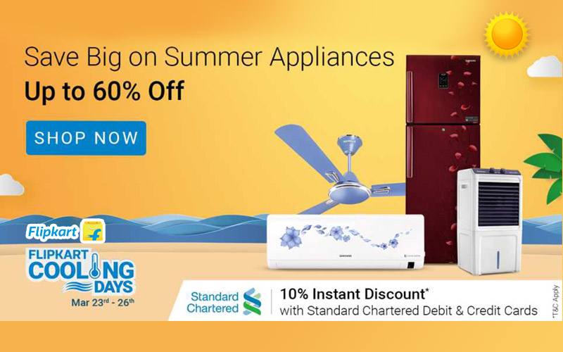 Upto 60% Off On Summer Appliances @ Flipkart Cooling Days