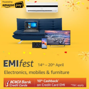 No Cost EMI - Electronics, Mobiles & Furniture @Amazon