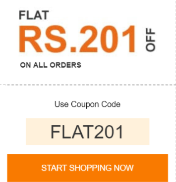 Flat 201 Off No Minimum Order @pepperfry