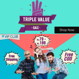 Triple Value Sale From Rs.79