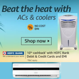 Up to 35% off: ACs + No cost EMI offers