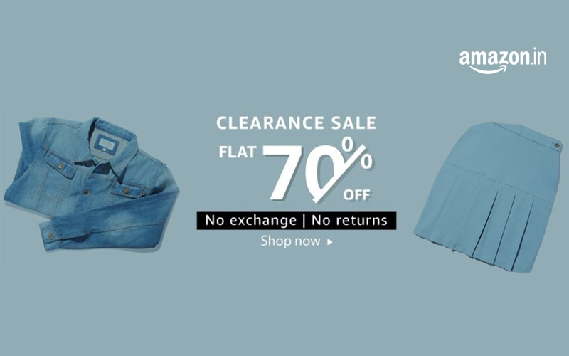 Flat 70% Off On Clothing At Clearance Sale - Amazon
