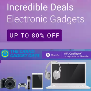 The Grand Gadget Days 22 - 24 May + 15% Back with Phonepe