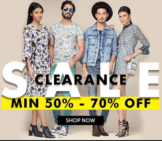 Clearance Sale: Min 50%- 70% Off