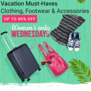 Upto 80% off - Women's Wednesday @Flipkart