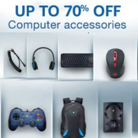 Upto 70% off on Computer Accessories & Peripherals