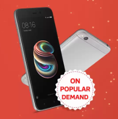 [@12 pm] Redmi 5A No.1 Selling Android Smartphone @Flipkart