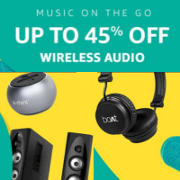 Audio Sale: Up to 60% OFF on Headphones & Speakers.