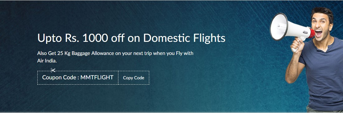 Flight Sale: Grab Rs 1000 OFF + Extra Rs 500 Cashback (All Users)