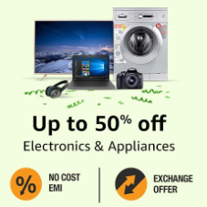 Electronics & Appliancces Upto 50% off