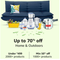 Home & Outdoor Upto 70% Off