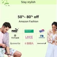 50% - 80% off on Amazon Fashion