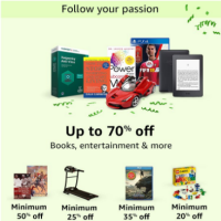 Books, Entertainment & more upto 70% off